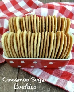 Cinnamon Sugar Cookies sweet goodness makes you smile as you are licking the cinnamon sugar off your lips. Lip smackin' good. image