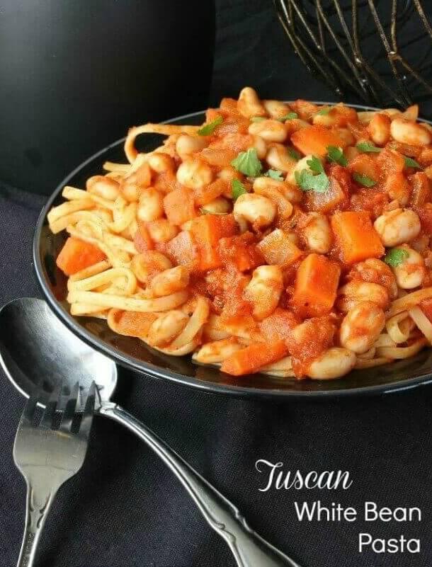 Tuscan vegetable pasta recipe