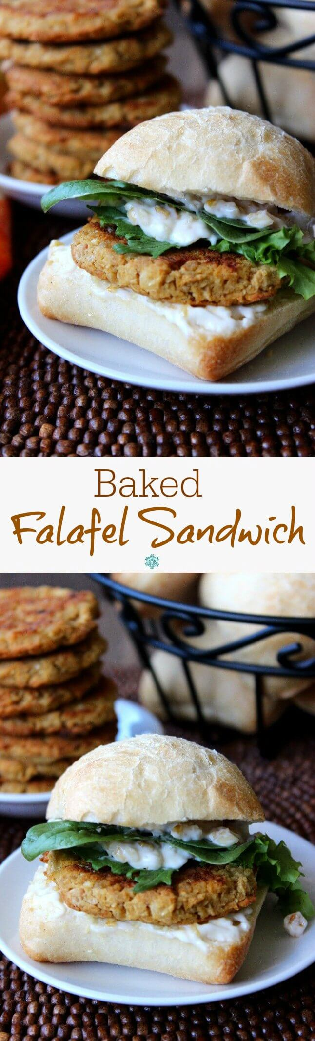 Baked Falafel makes a fantastic sandwich and is healthier than the deep fried version. The flavors are all there and the falafels are great as an entree too.
