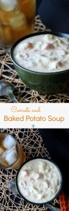Baked Potato Soup is hearty, creamy and easy. This recipe is a little different too. Plant-based and carrots are added for just a hint of sweetness.