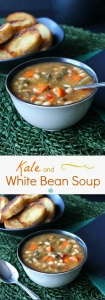 Kale White Bean Soup serves up a complete meal with this one recipe. An easy and delicious recipe that you need to make asap. Great Monday through Sunday.