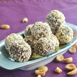 These little chocolate candy balls also include peanut butter and are easy to make.