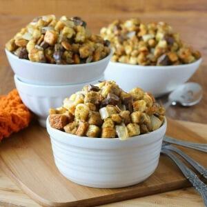 Cremini Mushroom Dressing is easy and a Thanksgiving perennial favorite.