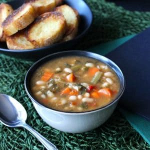 Kale White Bean Soup serves up a complete meal with this one recipe.