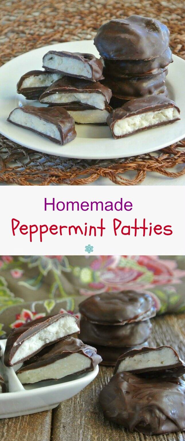 Homemade Peppermint Patties are so simple and as pure as a candy can be. No additives or preservatives with only four ingredients.
