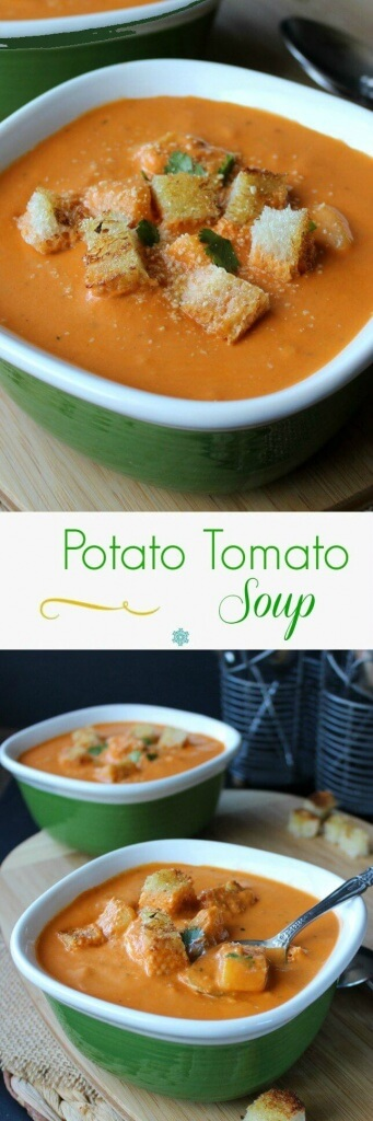 Potato Tomato Soup is rich with flavor. Fresh veggies and seasonings make this a creamy and hearty meal. A dream recipe that will keep you coming back for more.