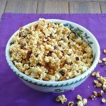 Cranberry Caramel Popcorn has a lovely light sweetness and a little bit of cranberry tartness. 14 cups for you and your friends!