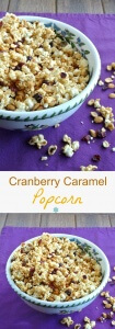 Cranberry Caramel Popcorn has a lovely light sweetness and a little bit of cranberry tartness for just the right balance. 14 cups for you and your friends!