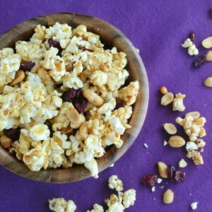 Cranberry Caramel Popcorn has a lovely light sweetness. 14 cups for you and your friends!