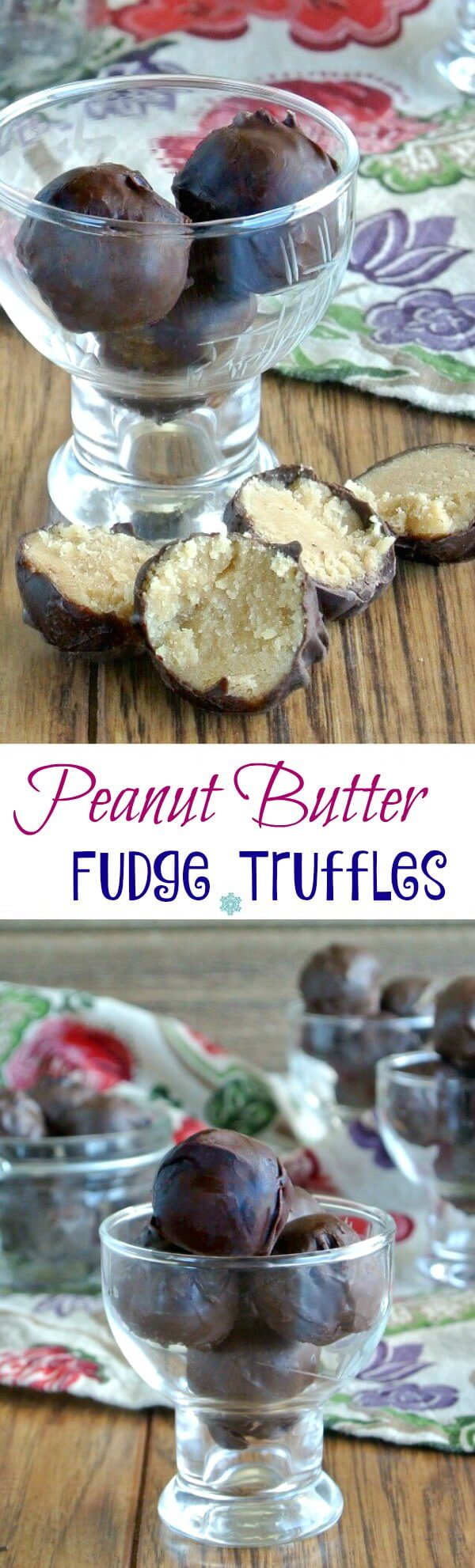 Peanut Butter Fudge Truffles are creamy and decadent on their own but why not cover them in chocolate and take these confections over the top. So good!