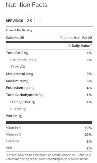 Sushi Maki Rolls nutrition information
