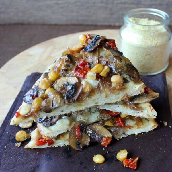 Vegan Veggie White Pizza