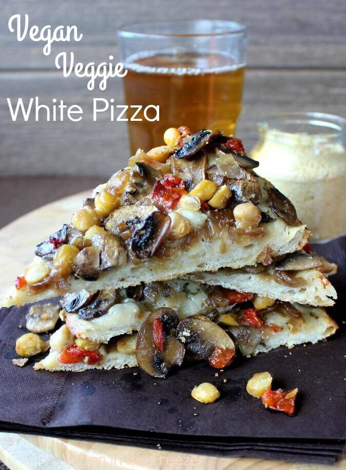 Vegan Veggie White Pizza