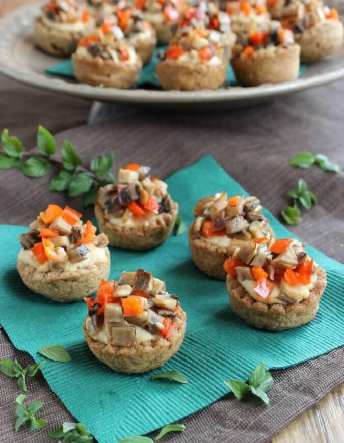 Garlic Hummus Stuffed Mini Cups from The Make Ahead Vegan Cookbook