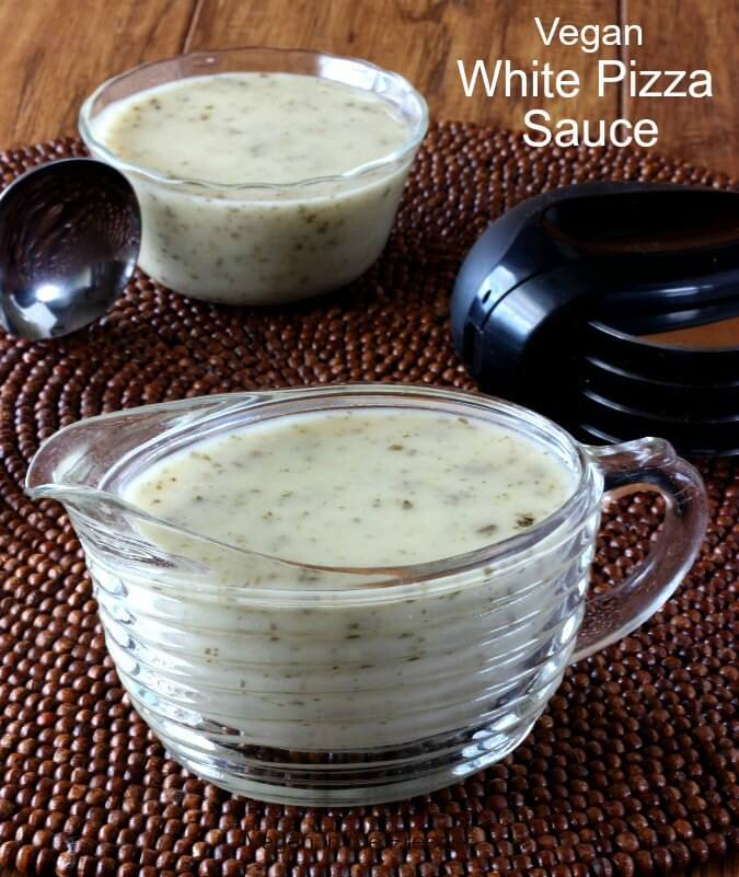 Vegan White Pizza Sauce is a tangy garlicky recipe that makes the most flavorful base to a pizza that will meet all of your culinary needs.