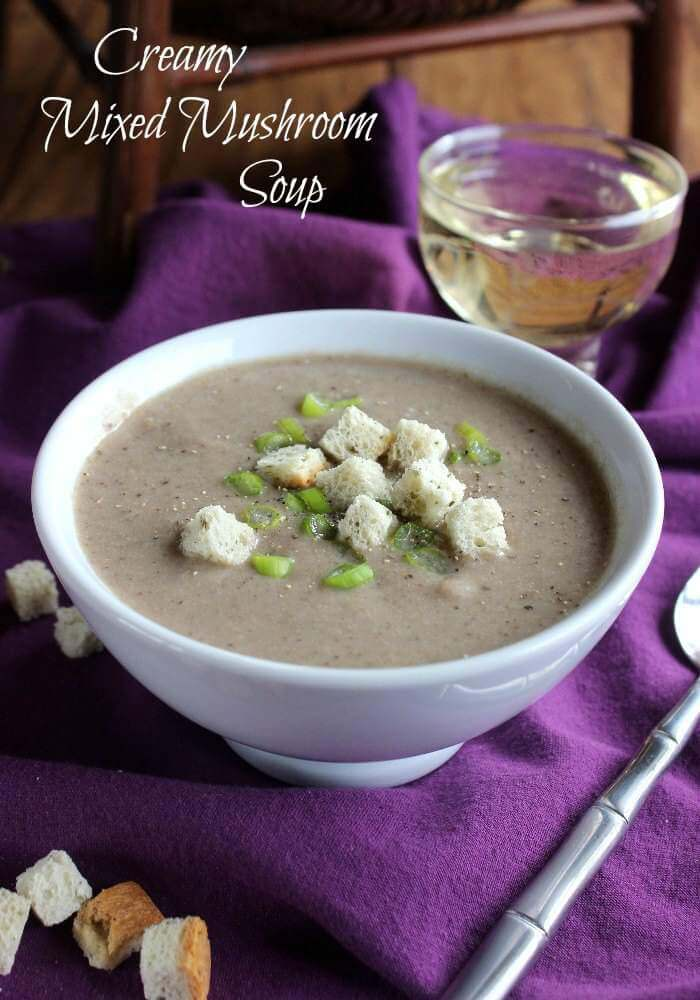 Creamy Mixed Mushroom Soup is packed with a favorite superfood - mushrooms! Flavorful and seasoned just right, this simple soup will have people coming back for more.