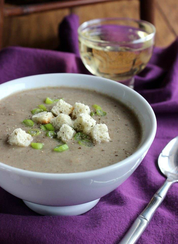 Creamy Mixed Mushroom Soup is packed with a favorite superfood - mushrooms! Simple, flavorful and seasoned just right!