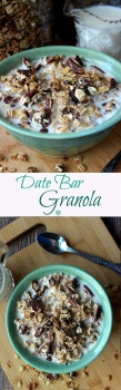 Date Bar Granola is a comforting breakfast meal. It's simple, healthy, delicious and it just takes minutes to prepare.