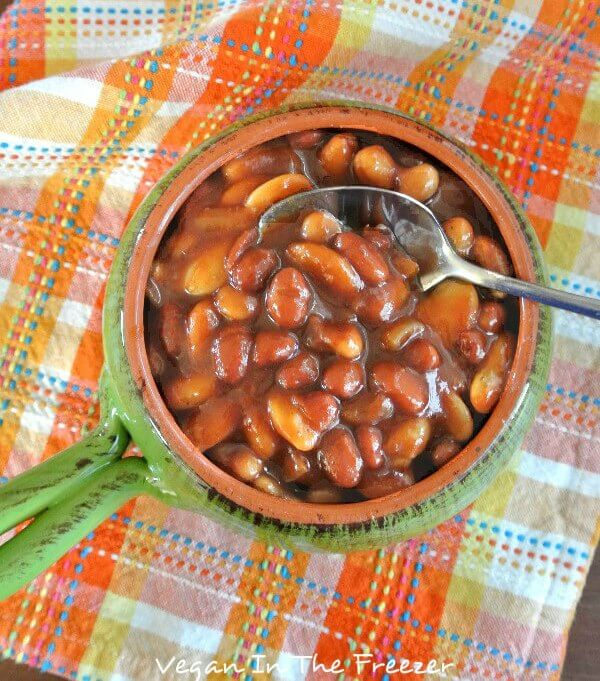 Slow Cooker Baked Beans with a kick.