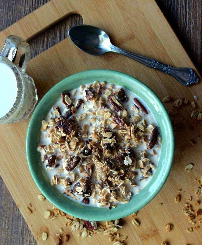 Date Bar Granola is a simple, healthy and delicious breakfast that just takes minutes to prepare.