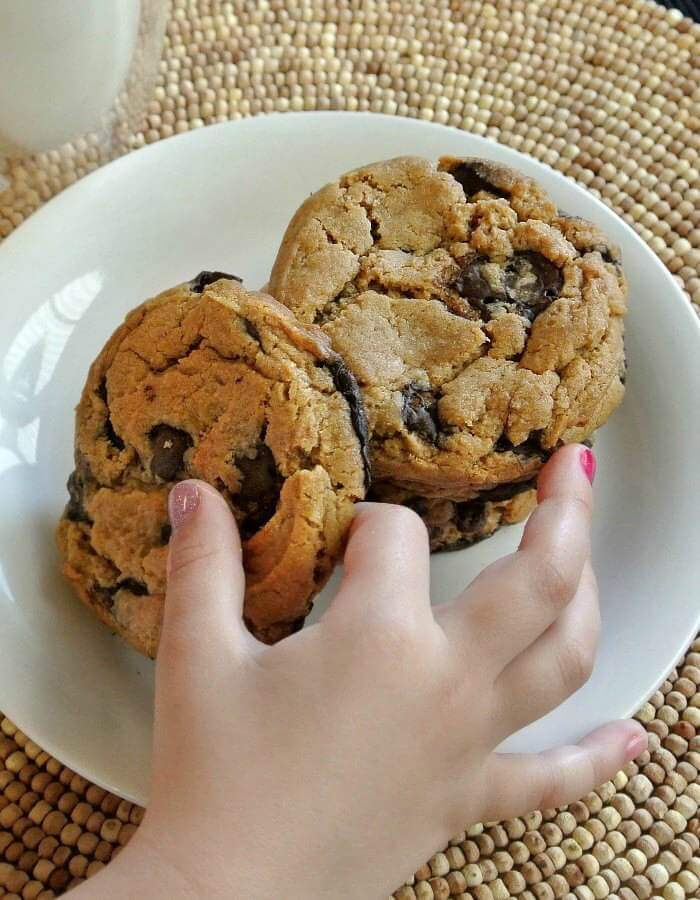 Giant Chocolate Chip Cookies are big and chewy and chocolaty and vegan. How fun is that!