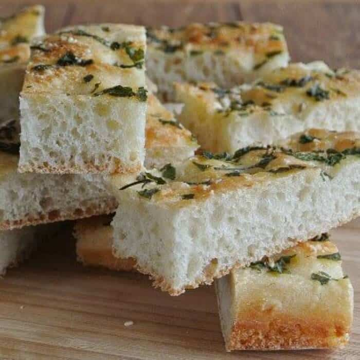 Herbed Focaccia is very popular in Italy and you could even say a staple.