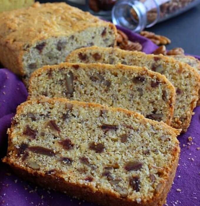Date Pecan Cornbread is so simple - it starts with a packaged mix and you add dates and pecans