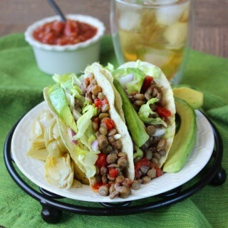 Spicy Lentil Tacos are easy and they are one of the healthiest meals you can serve.