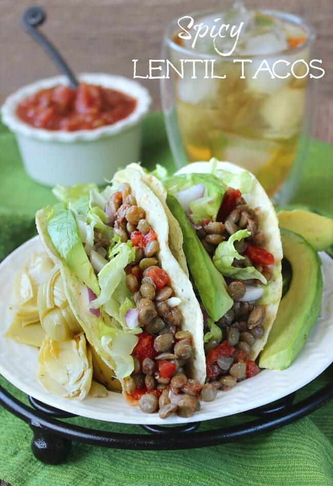 Spicy Lentil Tacos are easy and they are one of the healthiest meals you can serve. Kids of all ages love them and that includes us adults.