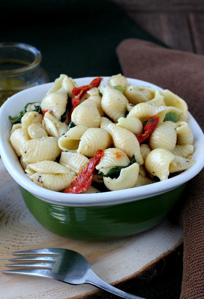 Pine Nuts Pasta Salad is popular, flavorful and easy. Great for a side dish or picnicking.