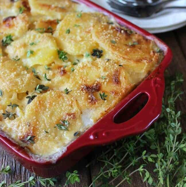 Dairy Free Herbed Scalloped Potatoes is comfort food at it's best.