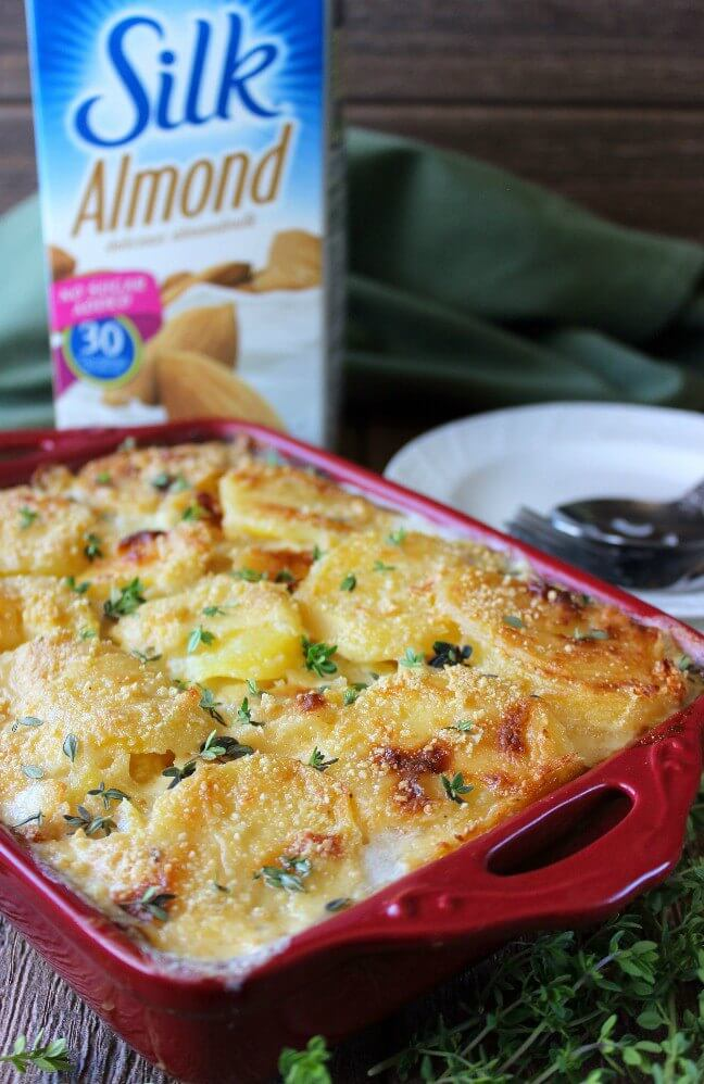 Grow sustainable herbs indoors and then use some fresh ones on this scalloped potatoes casserole.