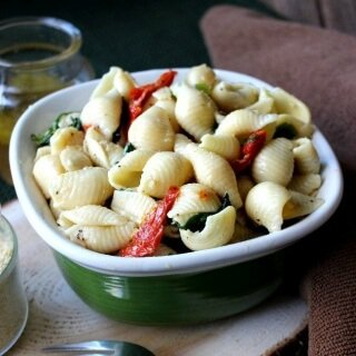 Pine Nuts Pasta Salad is popular, flavorful and easy.