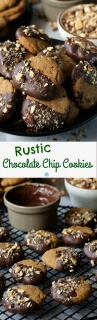 Rustic Chocolate Chip Cookies are simple and have a unique flavor. The perfect texture. Dip in chocolate if you like too!