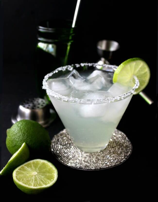 Silver Cadillac Margarita is a simple cocktail with a perfect balance of 5 special ingredients. Serve on the rocks and sip it with a straw.