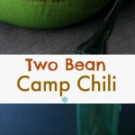 Two Bean Camp Chili is a fun main or side dish that can enhance any meal or party. It has deep rich flavors of a homemade tomato sauce that thickens as the big pot of chili cooks.
