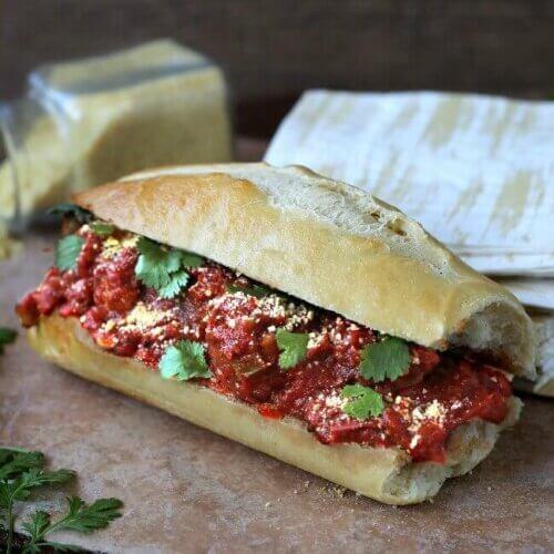 Slow Cooker Vegan Sausage Hoagie makes life easier by being able to do it all in the crockpot.