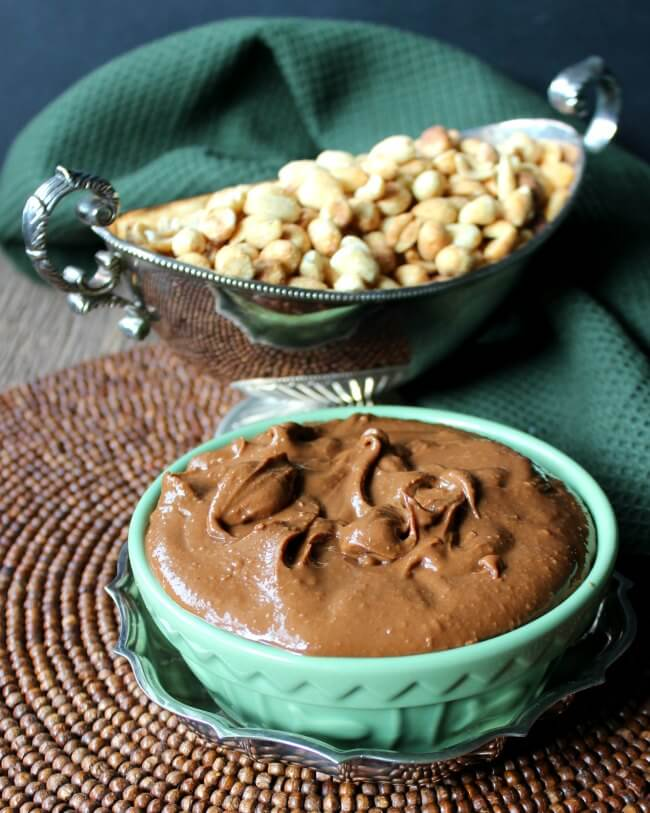 Clean Chocolate Peanut Butter is a guilt free treat. Only 4 ingredients and a food processor.