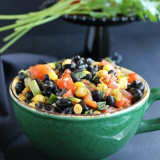 Fully Loaded Black Bean Salad is a colorful & flavorful salad.