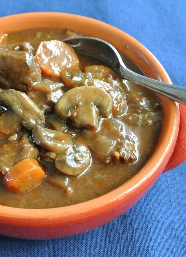 Vegan Beef Bourguignon Slow Cooker