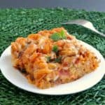 Easy Rotelle Pasta Casserole is comfort food to the max.