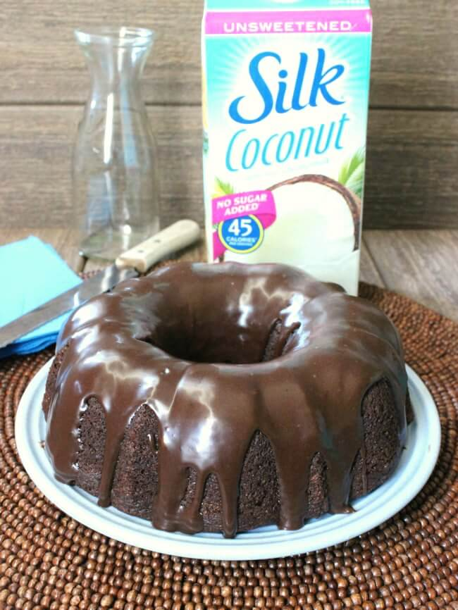 Incredible Chocolate Bundt Cake is made better with Silk milk.