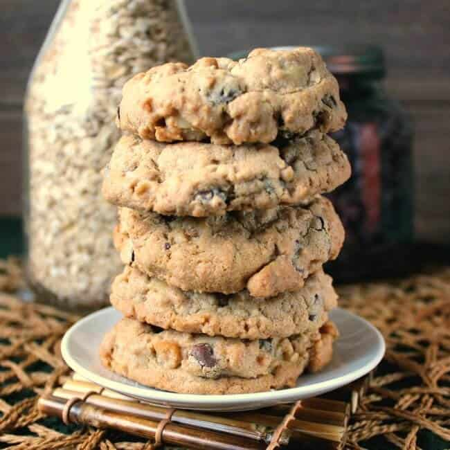 Nut Free Oatmeal Chocolate Chip Cookies Recipe | Vegan in the Freezer