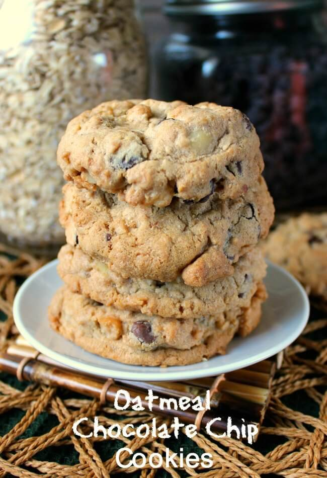 Nut Free Oatmeal Chocolate Chip Cookies have healthier ingredients and are the best! Fill up your cookie jar with a classic drop cookie.