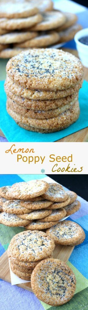 Lemon Poppy Seed Cookies have a mild lemony flavor that will wake up your tastebuds. Easy teats that will have you licking your lips for more.