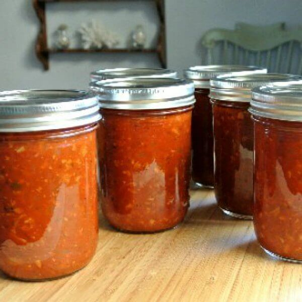 Spaghetti Sauce from the Slow Cooker jarred