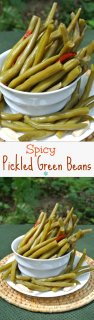 Spicy Pickled Green Beans are mildly spiced and a wonderful way to prepare fresh green beans. A great accompaniment at lunch, dinner and especially parties.