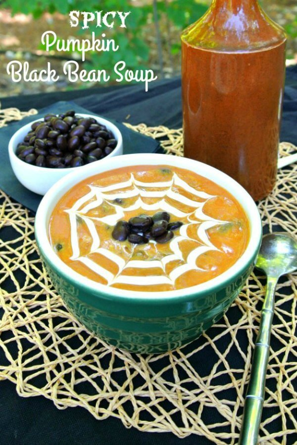Spicy Pumpkin Black Bean Soup takes a seasonal soup over the top. Lots of texture and flavor that you'll want to enjoy year after year.