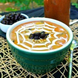 Spicy Black Bean Pumpkin Soup