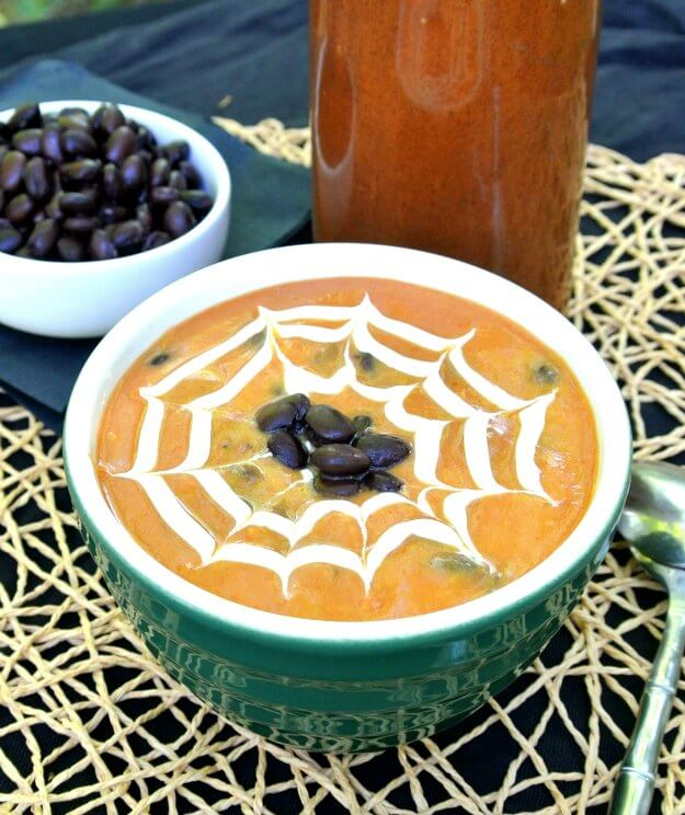 Spicy Pumpkin Black Bean Soup takes a seasonal soup over the top.